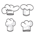 Four chef hats vector