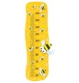 Meter wall or height meter with funny bees vector
