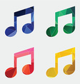 Music icon abstract triangle vector