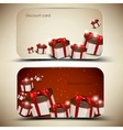Collection of discount cards with gifts background vector