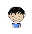 Cute boy smiling sketch for your design vector