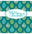 Festive background with christmas balls vector