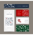Set of business cards arrow pattern for your vector
