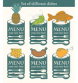 Set dishes vector