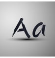 Calligraphic hand-drawn marker or ink letter a vector