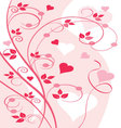 Floral grunche with hearts vector