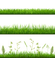 Grass borders vector