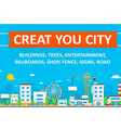 Construct your city and flat vector