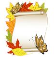 Butterfly autumn vector