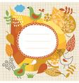 Autumnal theme vector