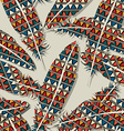 Ikat feather pattern 9 vector