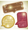 Colorful bubbles for speech christmas design vector