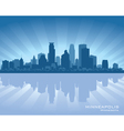 Minneapolis minnesota skyline vector
