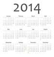 Simple vactor calendar 2014 vector