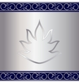 Abstract silver plate background with vignettes vector