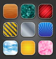 Backgrounds with texture for the app icons vector