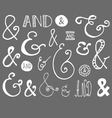 Ampersand hand drawn doodle vector
