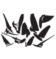Windsurfing silhouette vector