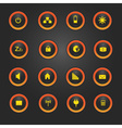Laptop and pc indication light buttons eps10 vector