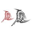 Tribal horse mascot vector