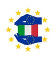 European help for italy vector