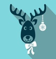 Reindeer face vector