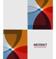 Colorful geometrical modern art minimal template vector