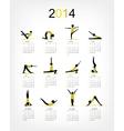 Yoga calendar 2014 for your design vector