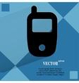 Mobile phone flat modern web design on a flat vector