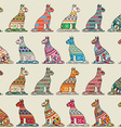 Seamless cats pattern vector