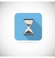Flat hourglass icon vector