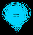 Scribble blue bubble vector