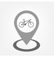 Bicycle sign inside pointer vector