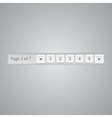 Pagination bar template vector