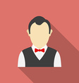 Croupier icon modern flat style with a long shadow vector