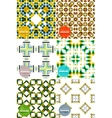Set of colorful seamless geometric patterns vector