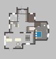 03 house plan v vector