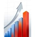 Silver growth arrow vector