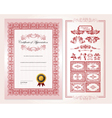 Certificate design template vector