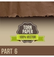 Collection of white torn paper vector