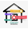Home icon infographic concept line style vector