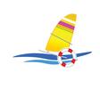 Sailboat icon vector