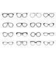 Eyeglasses set flat vector