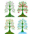 Four seasonal tree vector