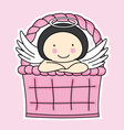 Fairy in a basket vector