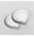 3d white speech bubble modern template vector