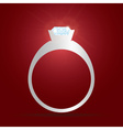 Engagement ring with diamond eps10 vector