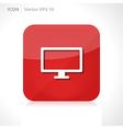 Monitor icon vector