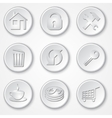 Abstract round paper icon set vector