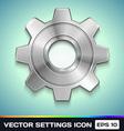 Settings gear icon vector
